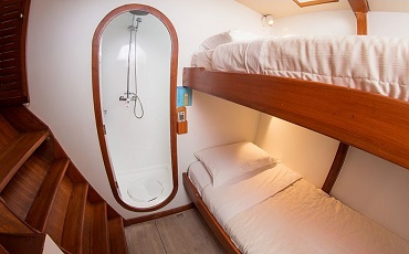 The cabins of Nemo II are small but comfortable.