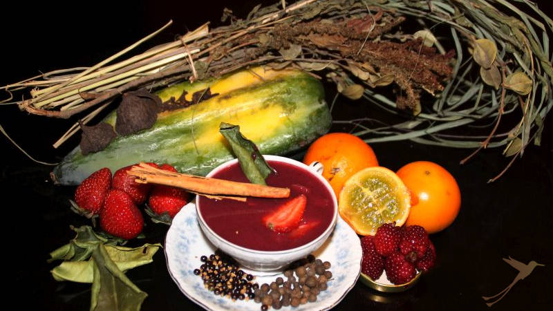 Colada morada is typically drunken around the day of the dead.