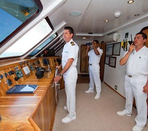 The crew of Cormorant gives its best to make your stay unforgettable