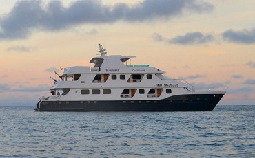 Enjoy sunsets onboard the yacht Cormorant