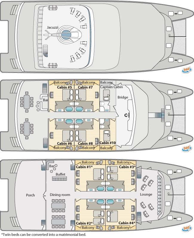 Deck plans of ocean spray