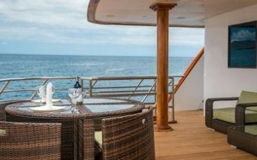 Breath fresh air on the upper deck of Seastar Journey