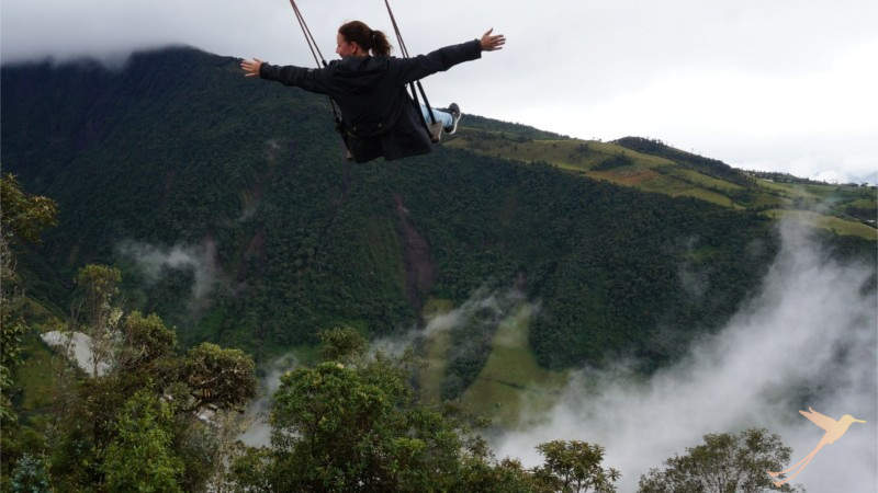 The giant magic swing is one of Baños main attractions