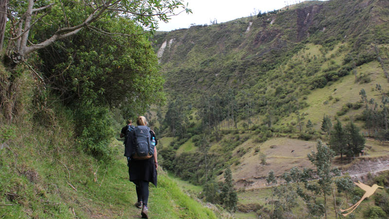 Discover varied landscape on your hike to Quilotoa