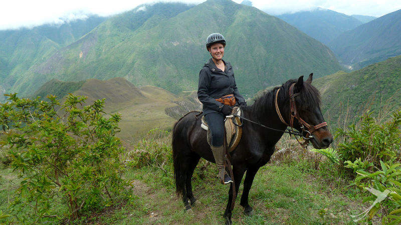 Discover the Pululahua crater on horse back.