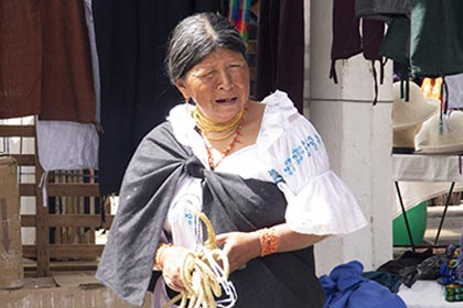 The indigenous people contribute a lot to the culture in Ecuador.