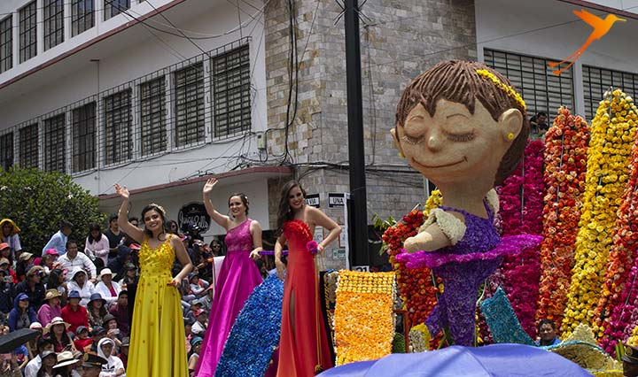 carnival ambato parade of flowers and fruits