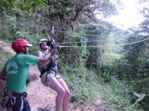 Zip lining is one of the fun activities you can do in Mindo.