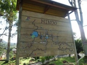 Mindo is a nice little village in the middle of the cloud forest.