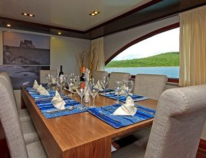 Enjoy your meals in the luxury dining area of the Ocean Spray