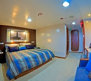 The double cabins of Oceans Spray are spacious and comfortable