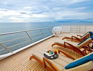 Relax on the sun deck of the Ocean spray after an interesting excursion
