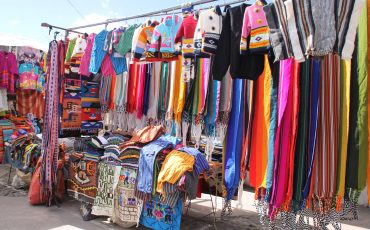 Find handmade souveniers at the Otavalo market.