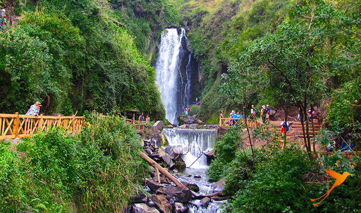 Peguche Waterfall.