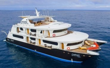 Petrel is a luxury Galapagos cruise ship.