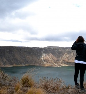 The views over the Quilotoa crater lake are spectecular