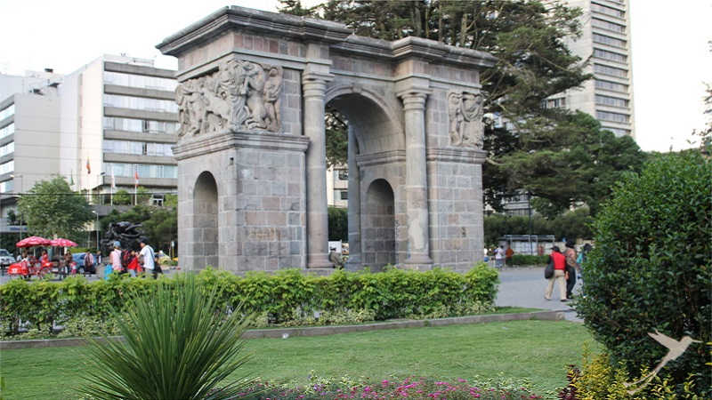 The ejido park in Quito is a very popular recreacion area.