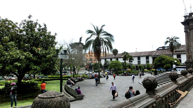 The Plaza Grande is the most famous square in the old town of quito.