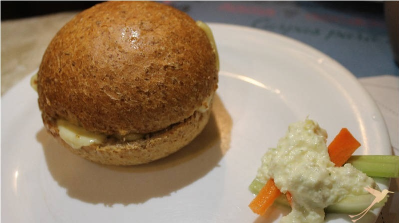 vegetarian cheese sandwich