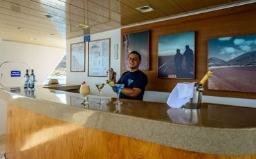 Have a cool drink at the bar of Seaman Journey