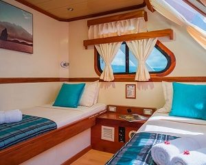 The twin cabins of Seaman Journey are cozy and comfortable.
