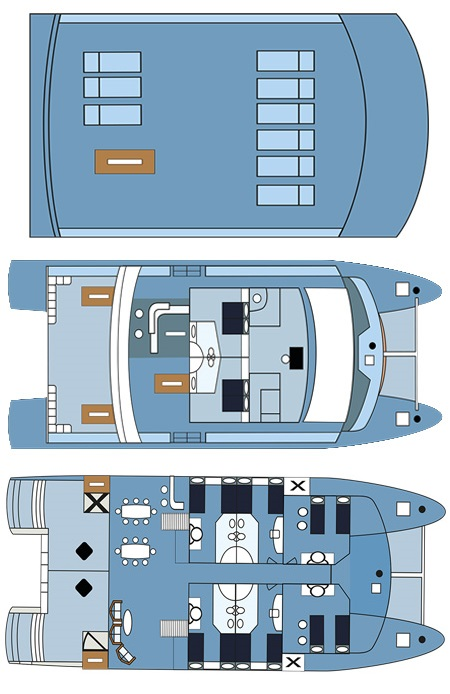 Deck plans of the Seaman Journey Yacht