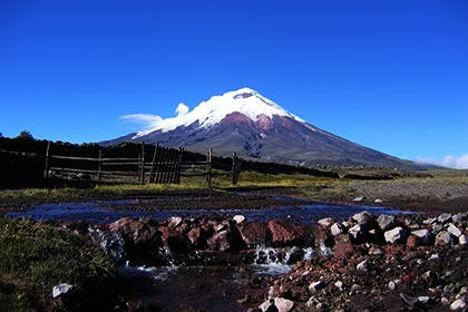 Ecuador has a lot of impressive mountains and volcanoes in the Andes!